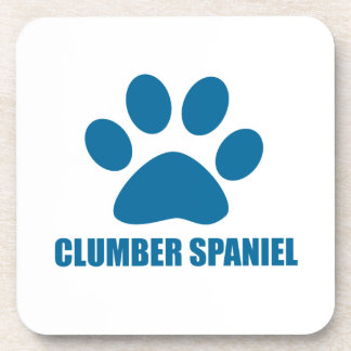 CLUMBER SPANIEL DOG DESIGNS COASTER