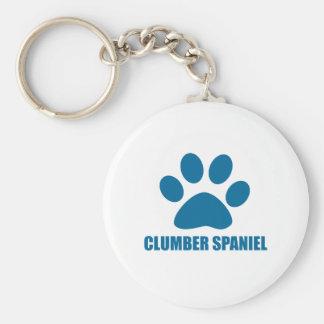 CLUMBER SPANIEL DOG DESIGNS KEYCHAIN
