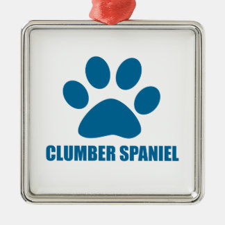 CLUMBER SPANIEL DOG DESIGNS METAL ORNAMENT