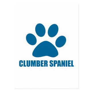 CLUMBER SPANIEL DOG DESIGNS POSTCARD