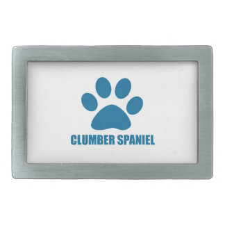 CLUMBER SPANIEL DOG DESIGNS RECTANGULAR BELT BUCKLE