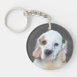 Clumber Spaniel Double-Sided Round Acrylic Keychain