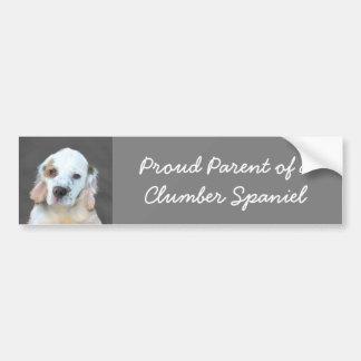 Clumber Spaniel Painting - Cute Original Dog Art Bumper Sticker