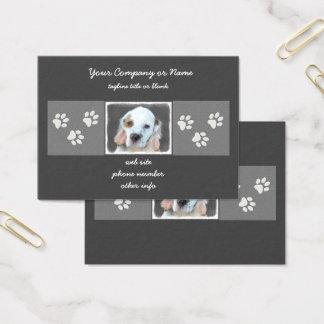 Clumber Spaniel Painting - Cute Original Dog Art Business Card