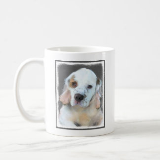Clumber Spaniel Painting - Cute Original Dog Art Coffee Mug