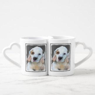 Clumber Spaniel Painting - Cute Original Dog Art Coffee Mug Set