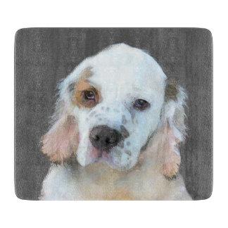 Clumber Spaniel Painting - Cute Original Dog Art Cutting Board