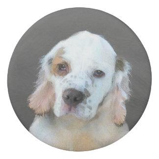 Clumber Spaniel Painting - Cute Original Dog Art Eraser