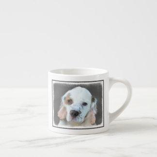Clumber Spaniel Painting - Cute Original Dog Art Espresso Cup