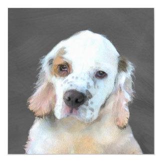 Clumber Spaniel Painting - Cute Original Dog Art Magnetic Card