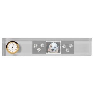 Clumber Spaniel Painting - Cute Original Dog Art Nameplate