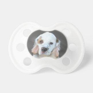 Clumber Spaniel Painting - Cute Original Dog Art Pacifier