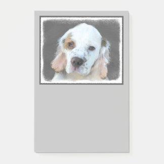Clumber Spaniel Painting - Cute Original Dog Art Post-it Notes
