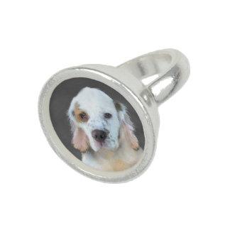 Clumber Spaniel Painting - Cute Original Dog Art Ring