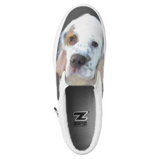 Clumber Spaniel Painting - Cute Original Dog Art Slip-On Sneakers