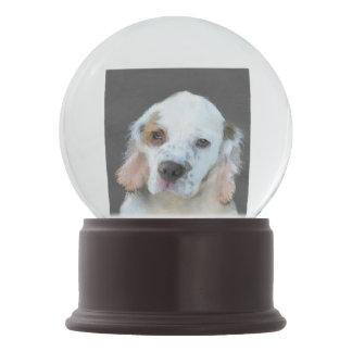 Clumber Spaniel Painting - Cute Original Dog Art Snow Globe