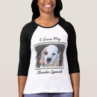 Clumber Spaniel Painting - Cute Original Dog Art T-Shirt