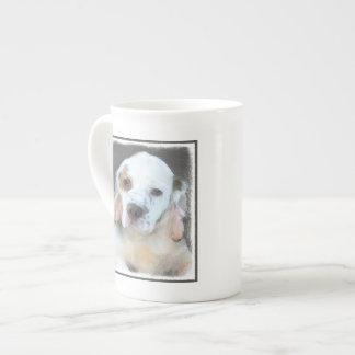 Clumber Spaniel Painting - Cute Original Dog Art Tea Cup
