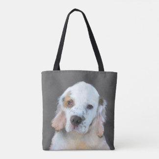 Clumber Spaniel Painting - Cute Original Dog Art Tote Bag