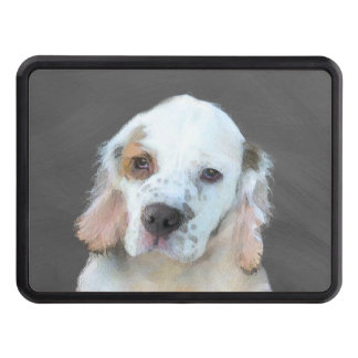 Clumber Spaniel Painting - Cute Original Dog Art Trailer Hitch Cover