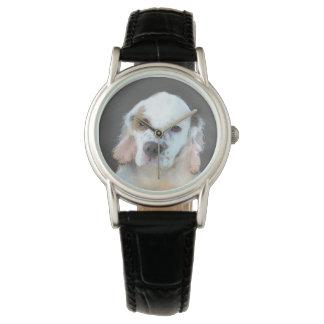 Clumber Spaniel Painting - Cute Original Dog Art Watch