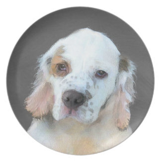 Clumber Spaniel Plate