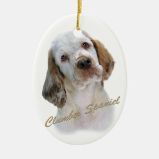 Clumber Spaniel  Portrait Ceramic Ornament