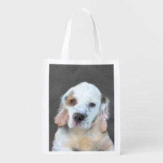Clumber Spaniel Reusable Grocery Bag
