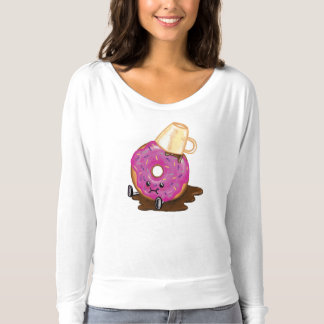 Clumsy Donut Spilled Coffee Humor Shirt