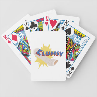 Clumsy Leg Cast Bicycle Playing Cards