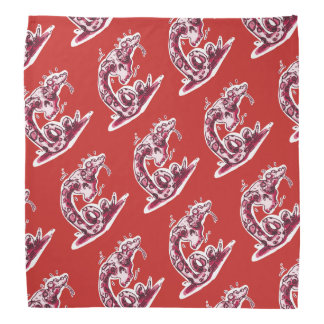 clumsy rattlesnake stuck into the skull cartoon bandana
