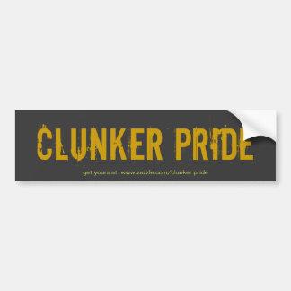 Clunker Pride blk/brw sticker