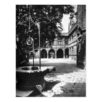 Cluny Hotel seen from the courtyard, Paris Postcard