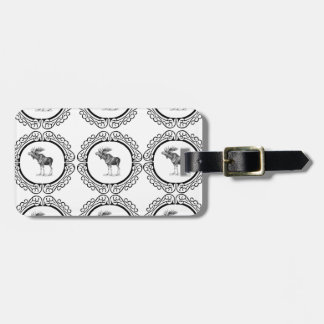 cluster of bull moose luggage tag