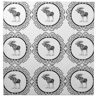 cluster of bull moose napkin