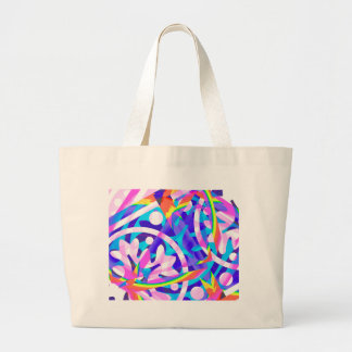 Cluster of Color Violet Variation Large Tote Bag