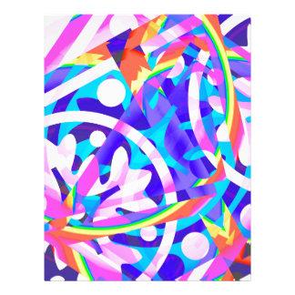 Cluster of Color Violet Variation Letterhead