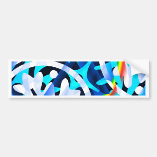 Cluster of Colorful Abstract Shapes Bumper Sticker