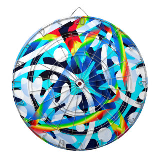 Cluster of colorful Abstract shapes Dart Board