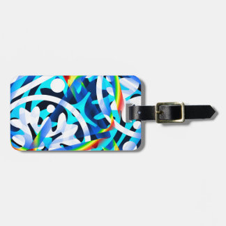 Cluster of Colorful Abstract Shapes Luggage Tag