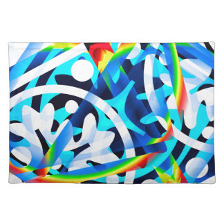 Cluster of Colorful Abstract Shapes Placemat