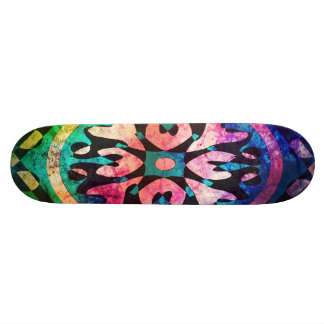 Cluster of Colorful Abstract Shapes Skateboard