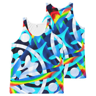 Cluster of Colorful Abstract Shapes Tank Shirt