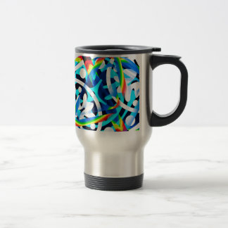 Cluster of colorful Abstract shapes Travel Mug