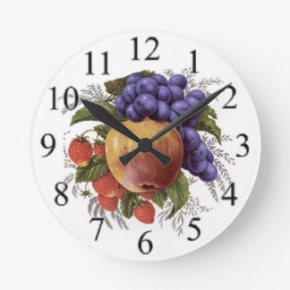 Cluster of Fruit Wallclocks