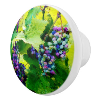 cluster of grapes Ceramic Knob