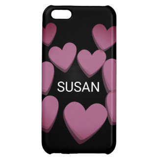 Cluster of Hearts Cover For iPhone 5C