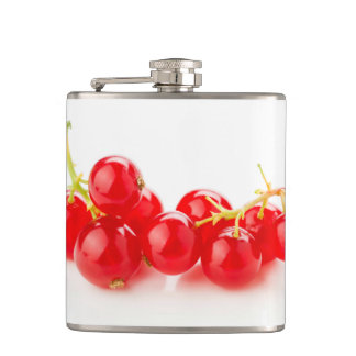 Cluster of red currants hip flask