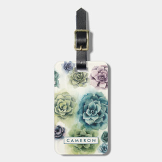 Cluster of Succulents Bag Tag