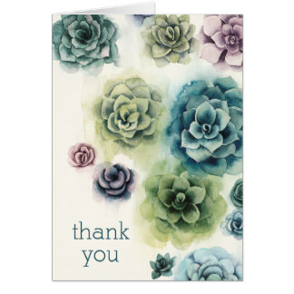 Cluster of Succulents Card